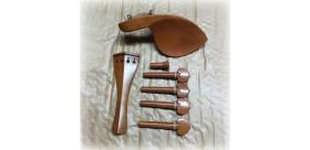 Set de accesorios violín, ébano con detalle blanco